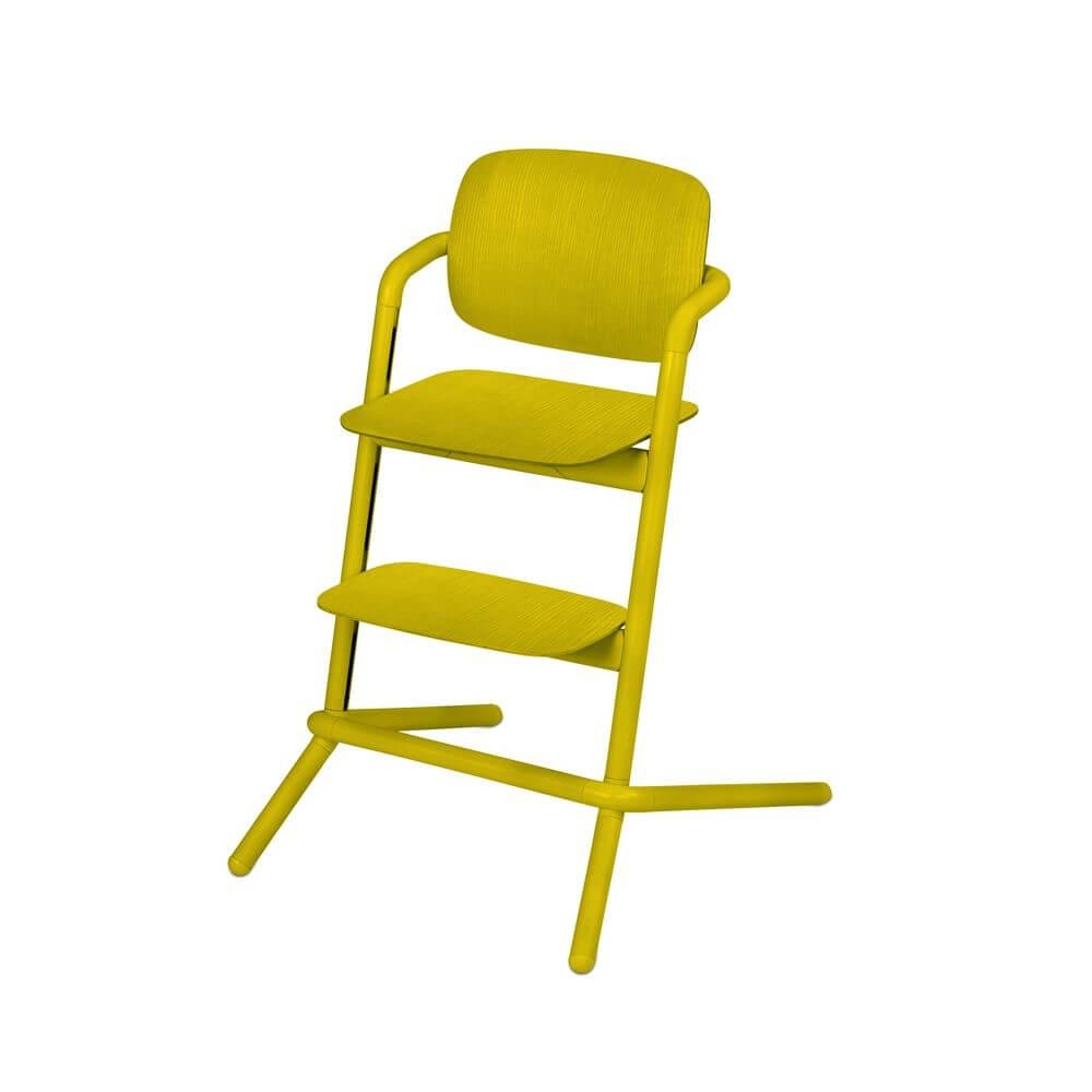 Chaise Haute Bois Lemo Canary Yellow