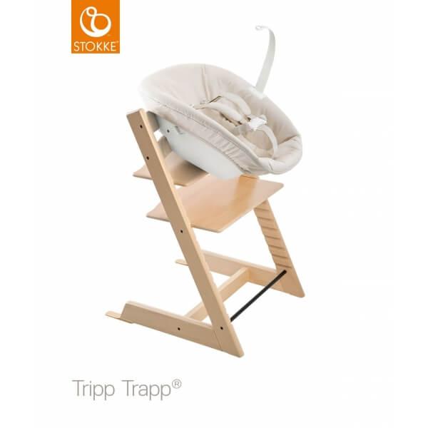 Stokke Chaise Haute Tripp Trapp Naturel Newborn Set Blanc Made