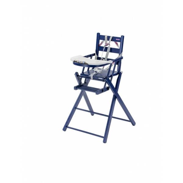 combelle chaise haute sarah pliante laqu bleu made in b b. Black Bedroom Furniture Sets. Home Design Ideas