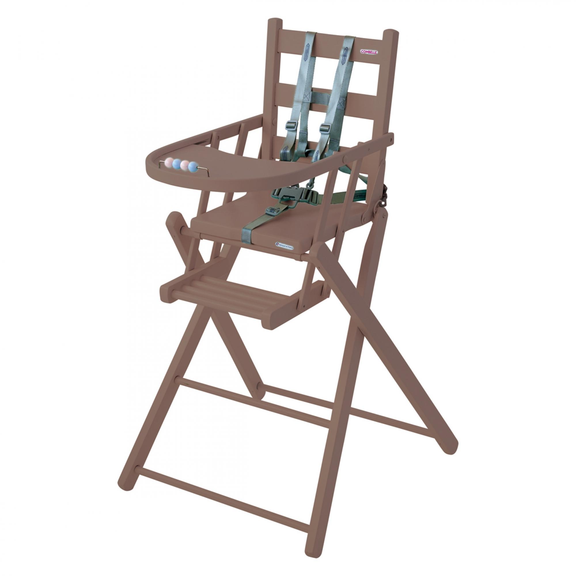 Chaise Haute SARAH extra-pliante laque taupe