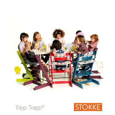 Stokke chaise haute volutive tripp trapp vert made in b b for Chaise haute tripp trapp grise