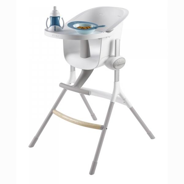 beaba chaise haute up and down grey white made in b b