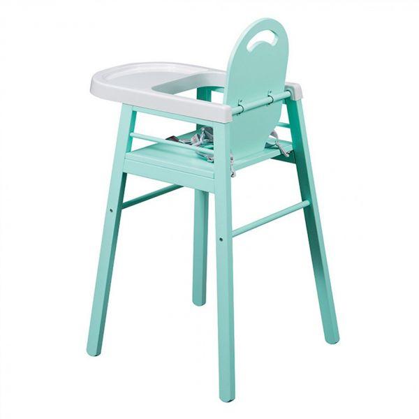 Combelle chaise haute lili laqu vert mint made in b b - Chaise haute lili combelle ...