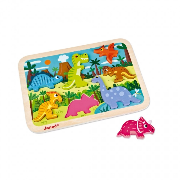 Puzzle Chunky dinosaures