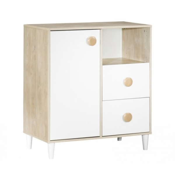 sauthon meubles commode 1 porte 2 tiroirs 1 niche nils made in b b. Black Bedroom Furniture Sets. Home Design Ideas