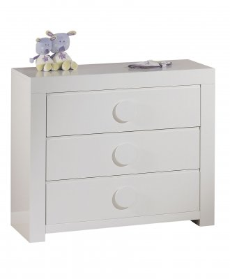 sauthon meubles commode 3 tiroirs blanc poign es rondes zen made in b b. Black Bedroom Furniture Sets. Home Design Ideas