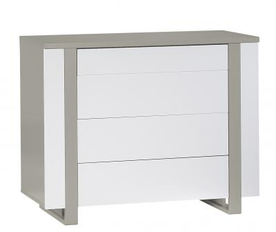Sauthon commode 4 tiroirs light made in b b - Rangement chaussettes tiroir ...