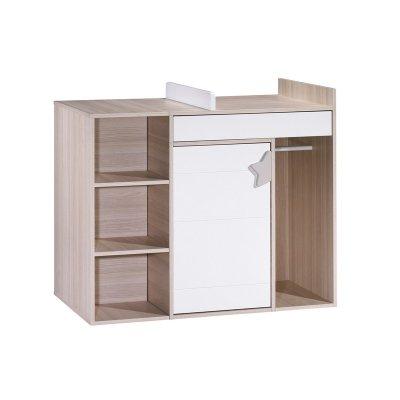 Sauthon meubles commode 3 tiroirs largeur 116 cm milk - Bureau petite largeur ...