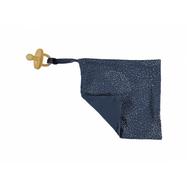 Doudou attache sucette Bubble night blue