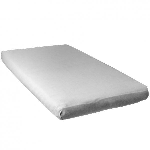 babycalin lot de 2 draps housse blanc rose 60x120cm jersey carde 130gr m 100 coton made. Black Bedroom Furniture Sets. Home Design Ideas