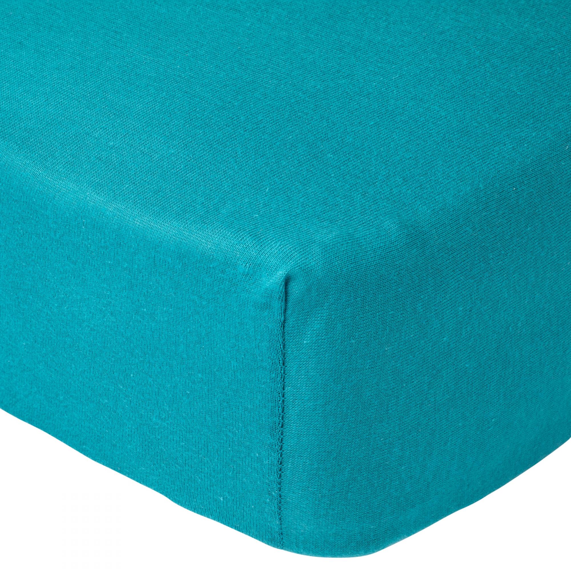 Turquoise Babycalin Lot 2 Draps Housse pour Lit de 60 x 120 cm Blanc