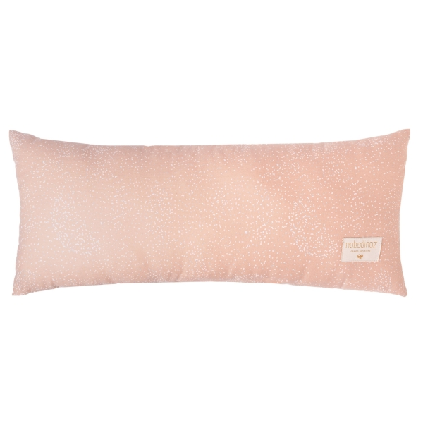 Coussin Hardy white bubble / misty pink
