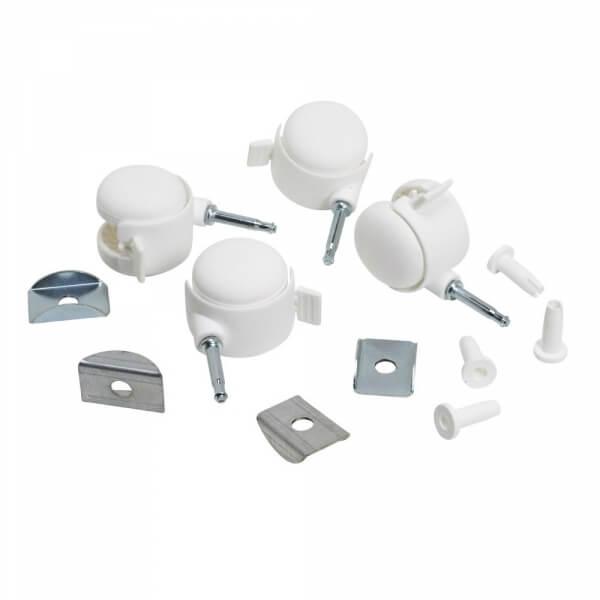 Sauthon meubles kit 4 roulettes blanches pour lit seaside - Roulette pour lit bebe ...