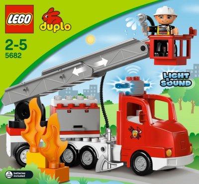 5682 le camion des pompiers de duplo. Black Bedroom Furniture Sets. Home Design Ideas