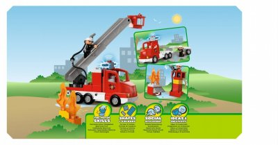 lego lego duplo 5682 le camion des pompiers made in b b. Black Bedroom Furniture Sets. Home Design Ideas