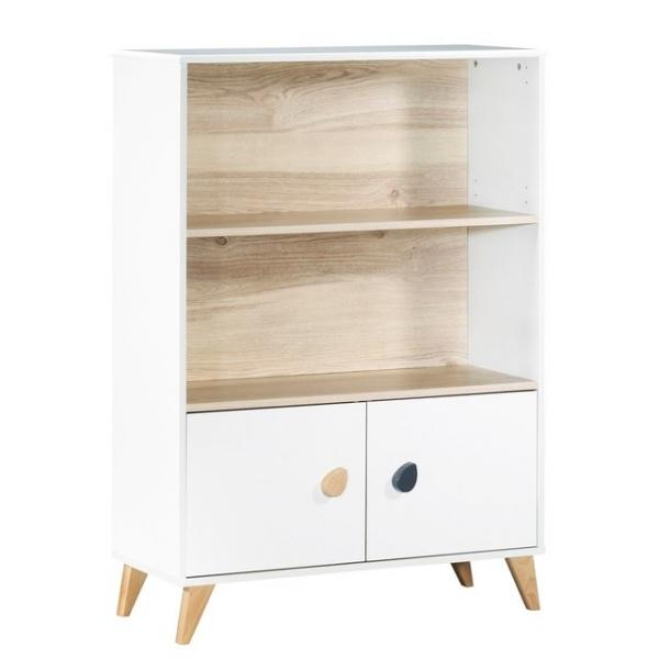 Sauthon meubles lit b b barreaux biblioth que gouttes for Lit oslo but