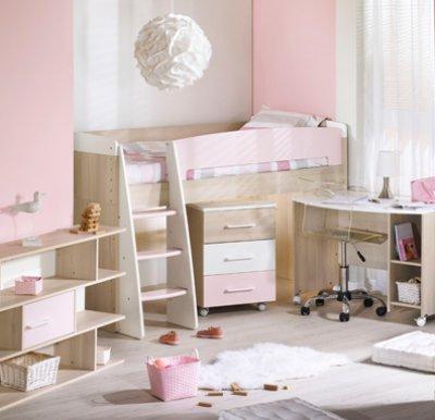 Sauthon meubles lit chambre 70x140 transformable milk rose for Lit 70x140 age