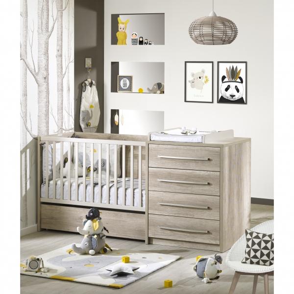 Sauthon meubles lit combin volutif 60 x 120 cm en 90 x for Lit oslo sauthon