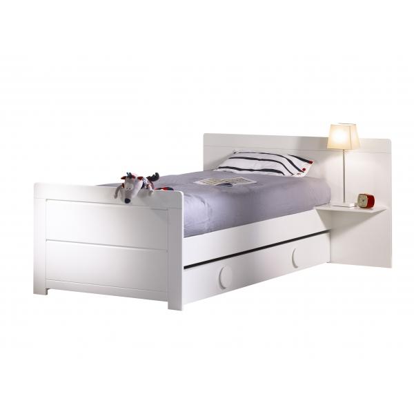 sauthon meubles lit gigogne pour lit transformable poign es rondes zen blanc made in b b. Black Bedroom Furniture Sets. Home Design Ideas