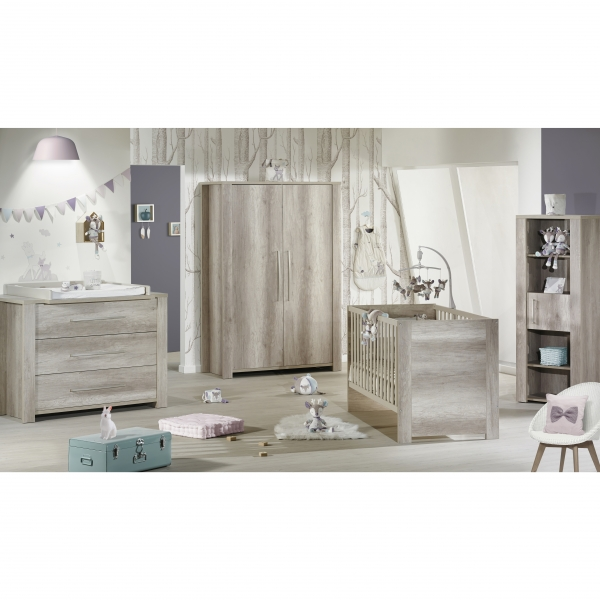 sauthon meubles chambre lit 70 x 140 cm commode emmy made in b b. Black Bedroom Furniture Sets. Home Design Ideas