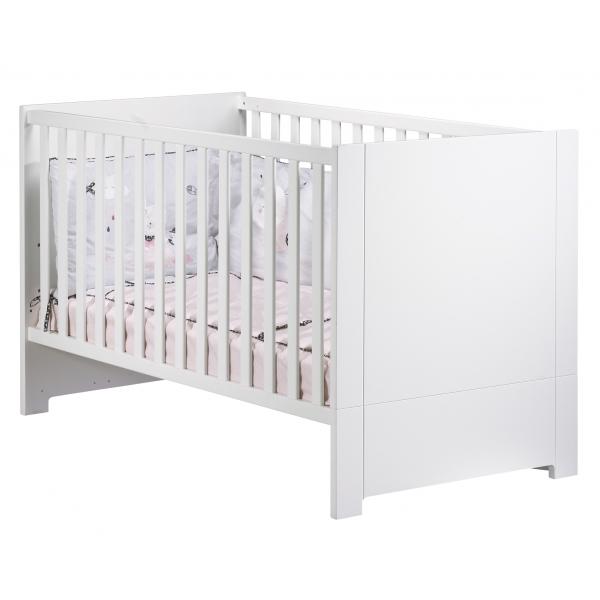 sauthon meubles chambre trio lit 70 x 140 cm commode 3 tiroirs armoire 2 portes loft blanc. Black Bedroom Furniture Sets. Home Design Ideas