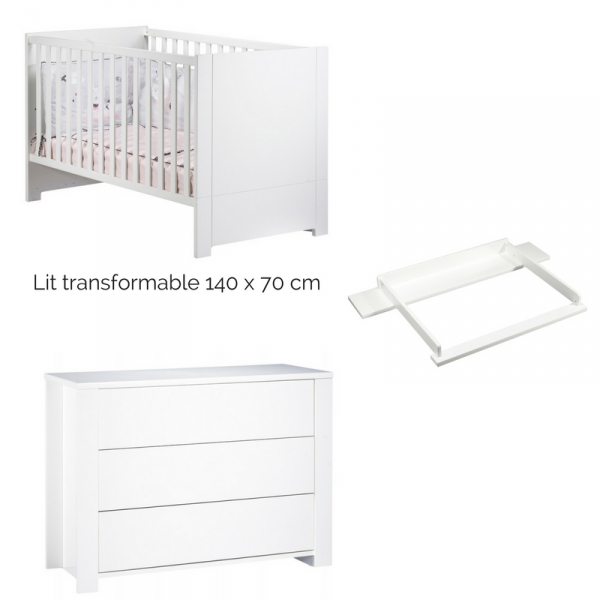 Sauthon meubles lit little big bed commode 3 tiroirs for Meuble 5 tiroirs