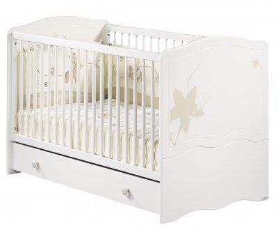 sauthon little big bed 70x140 folio blanc avec d233cors