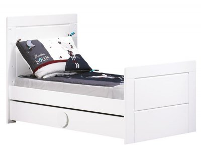sauthon meubles little big bed 140x70 zen blanc made in b233b233