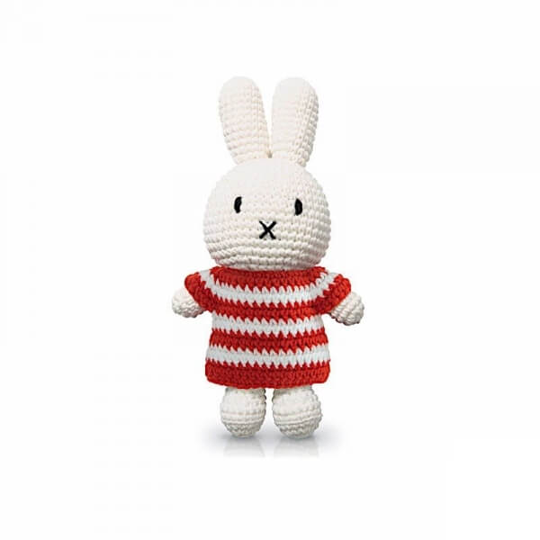 Peluche Miffy stripes rouge