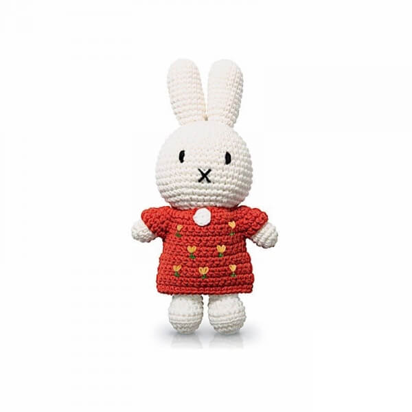 Peluche Miffy tulipes rouge