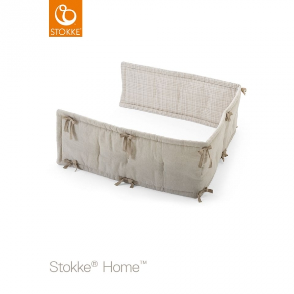 stokke demi tour de lit home beige made in b b. Black Bedroom Furniture Sets. Home Design Ideas