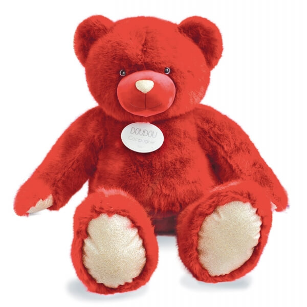 Peluche ours 200 cm rubis