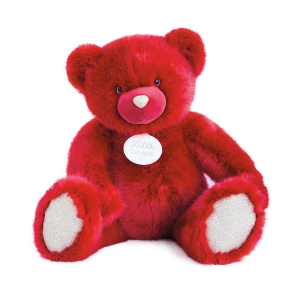 Peluche ours 80 cm Rubis