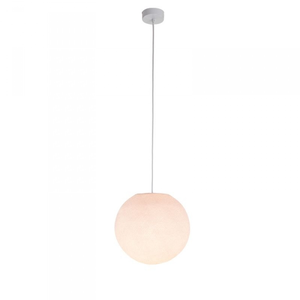 Suspension luminaire simple globe S rose dragée