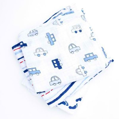 Pack de 3 langes Baby Boy Blue