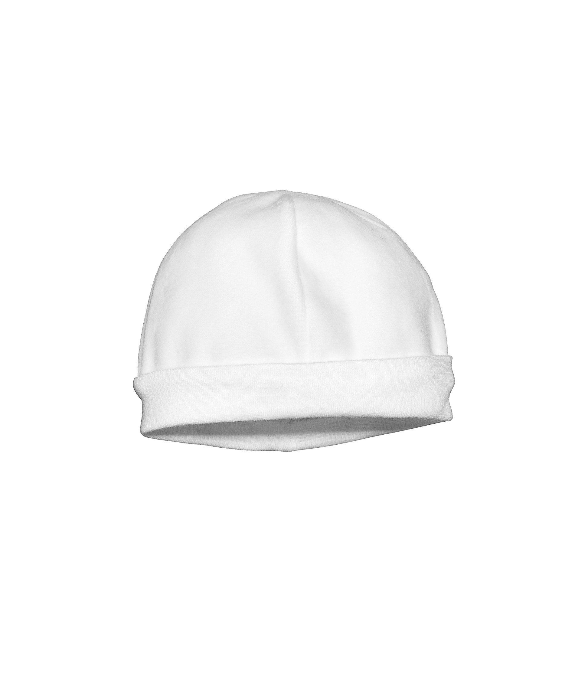 Petit Bateau Bonnet de naissance en velours blanc Écume - Made In Bébé 3932eea8970