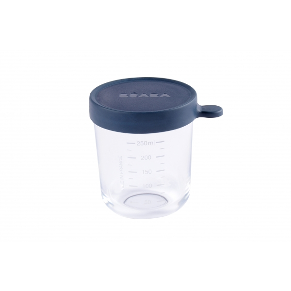 Pot de conservation portion verre 250 ml dark blue
