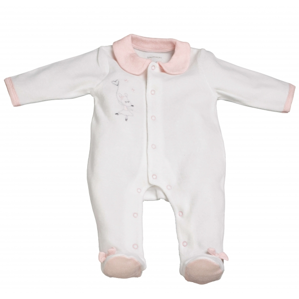 sauthon pyjama b b blanc naissance lilibelle made in b b. Black Bedroom Furniture Sets. Home Design Ideas