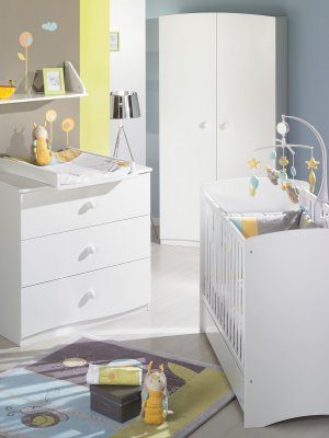 sauthon meubles coffre jouets nature blanc made in b b. Black Bedroom Furniture Sets. Home Design Ideas