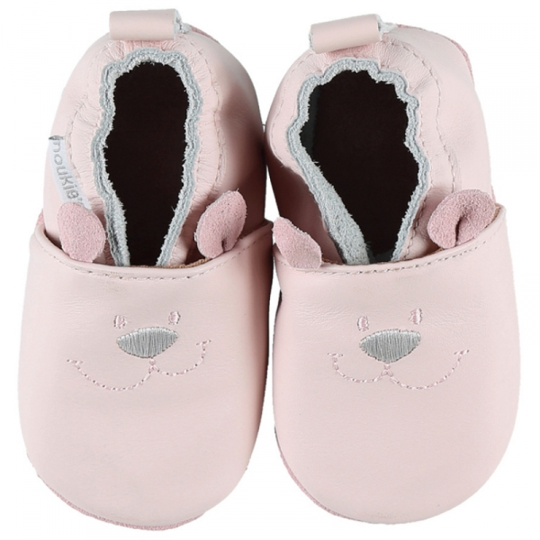 Chaussons cuir Rose 23-24
