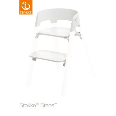 Assise chaise haute Steps blanc