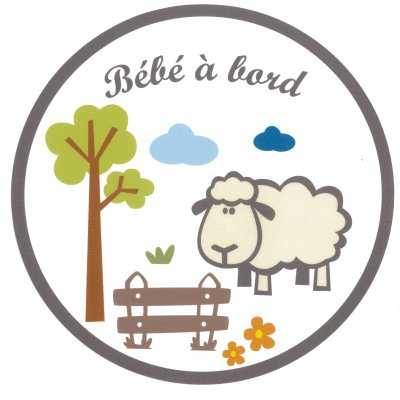 At home crochu b b bord mouton autocollant made in b b for Stickers mouton chambre bebe