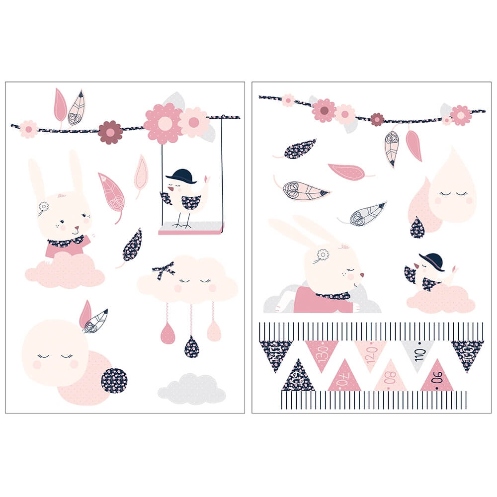 Sauthon Autocollants Stickers Decoratifs Miss Chipie Made In Bebe