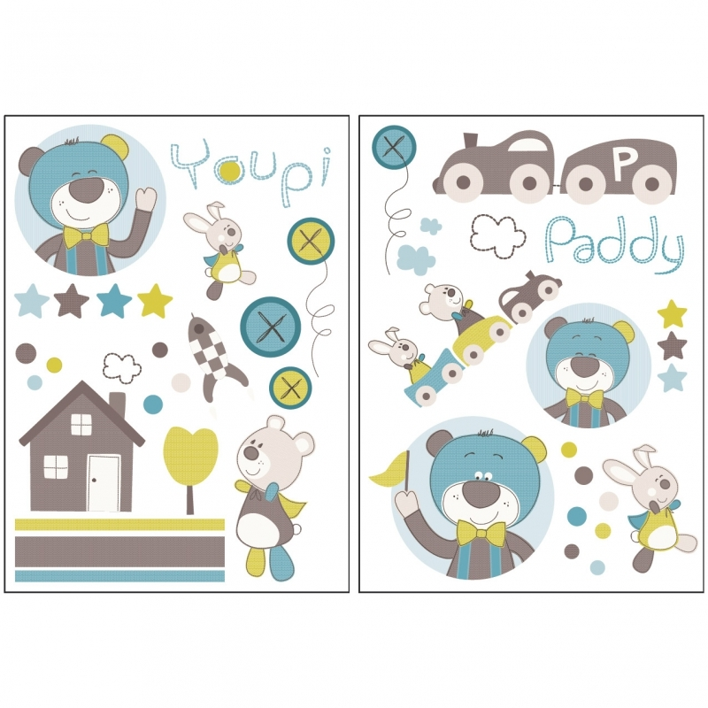 Sauthon Autocollants Stickers Decoratifs Paddy Made In Bebe