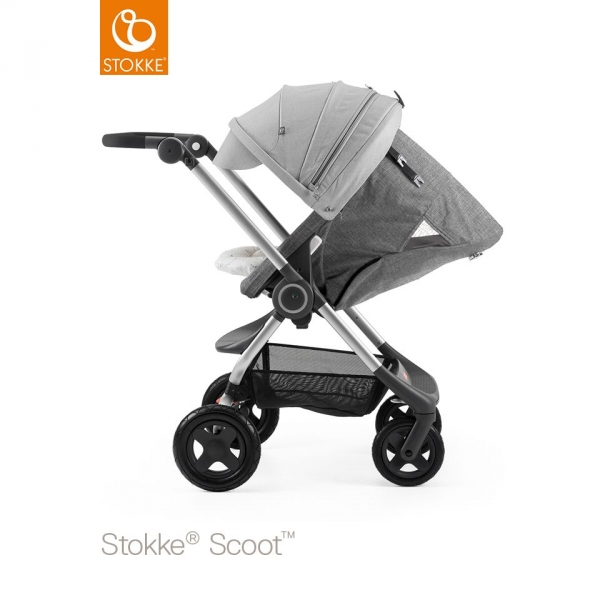 stokke canopy poussette scoot gris m lang made in b b. Black Bedroom Furniture Sets. Home Design Ideas