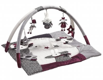 sauthon tapis d 39 veil olaf et faustine made in b b. Black Bedroom Furniture Sets. Home Design Ideas