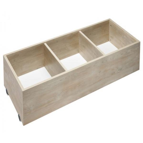 tiroir sous lit roulettes tiroir en bois roulettes pour rangement dressing ou sous bac. Black Bedroom Furniture Sets. Home Design Ideas