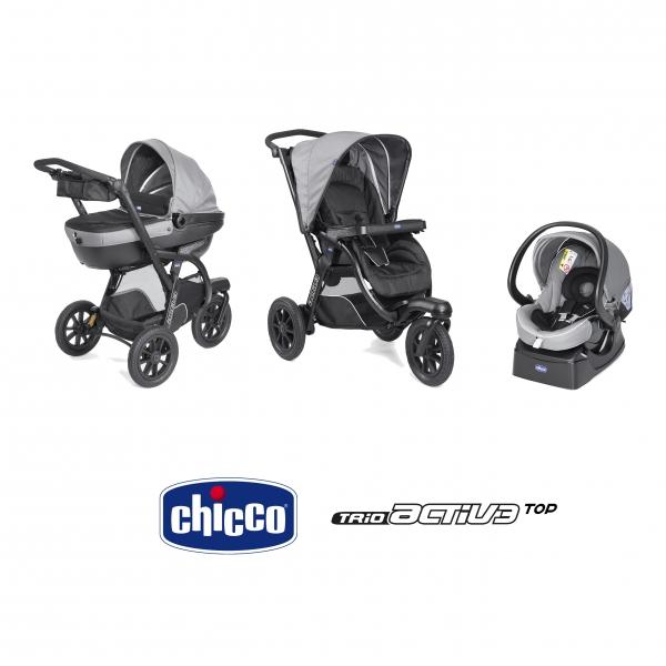 Chicco Trio Activ3 Top Poussette Nacelle Siège Auto Dark Grey