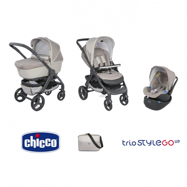 Chicco trio stylego up poussette nacelle si ge auto beige made in b b - Matelas nacelle chicco trio ...