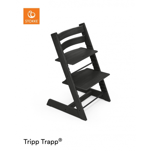 stokke chaise haute b b tripp trapp ch ne noir made in b b. Black Bedroom Furniture Sets. Home Design Ideas